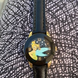 Disney Tinkerbell watch with black band
